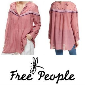 Free People Hearts & Colors long sleeve shirt sz M